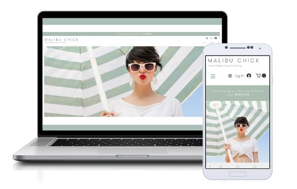 Malibu Chick eCommerce. Los Angeles based online clothing store...