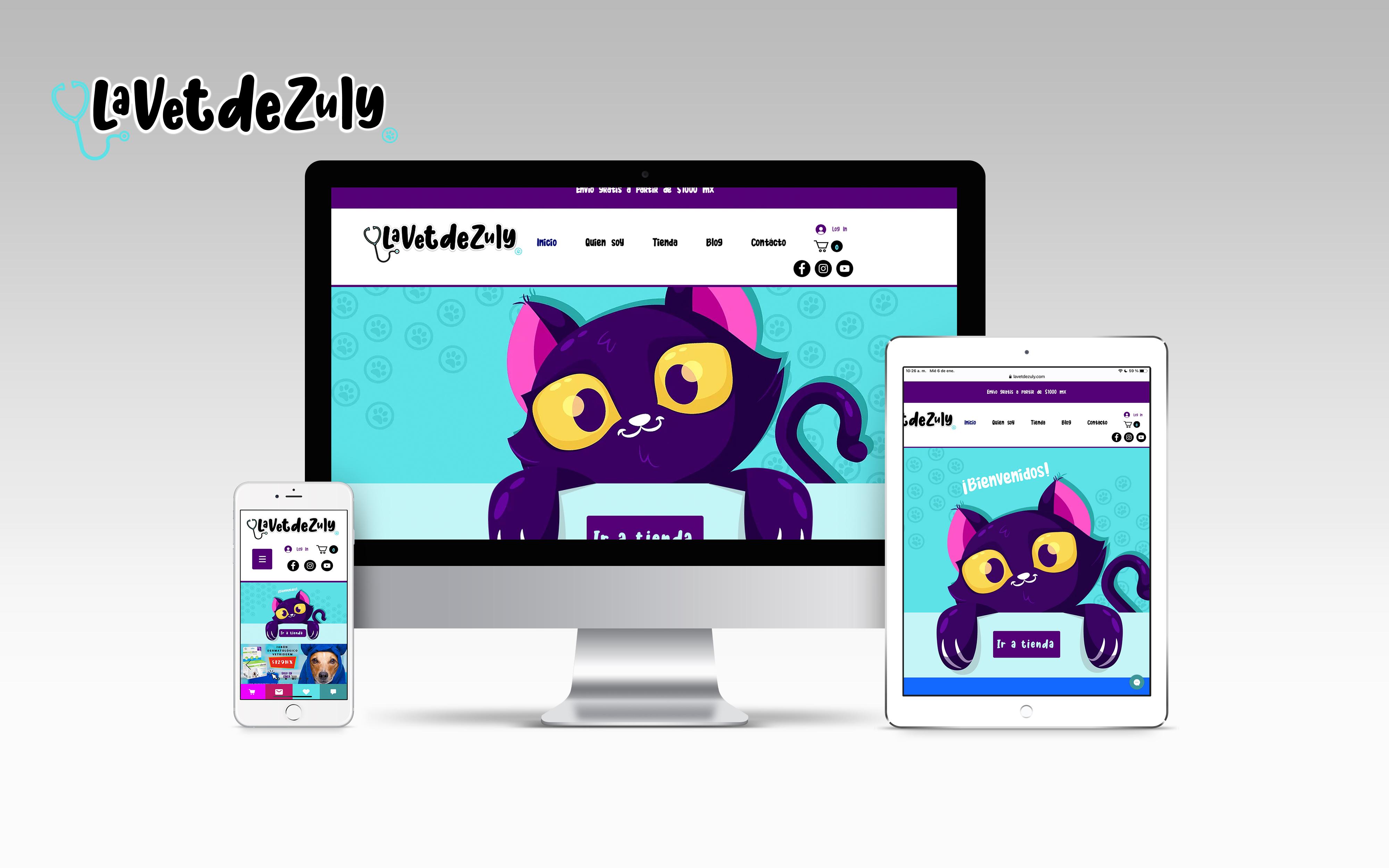 La Vet de Zuly Rediseño de marca con Ecommerce de productos y ser...