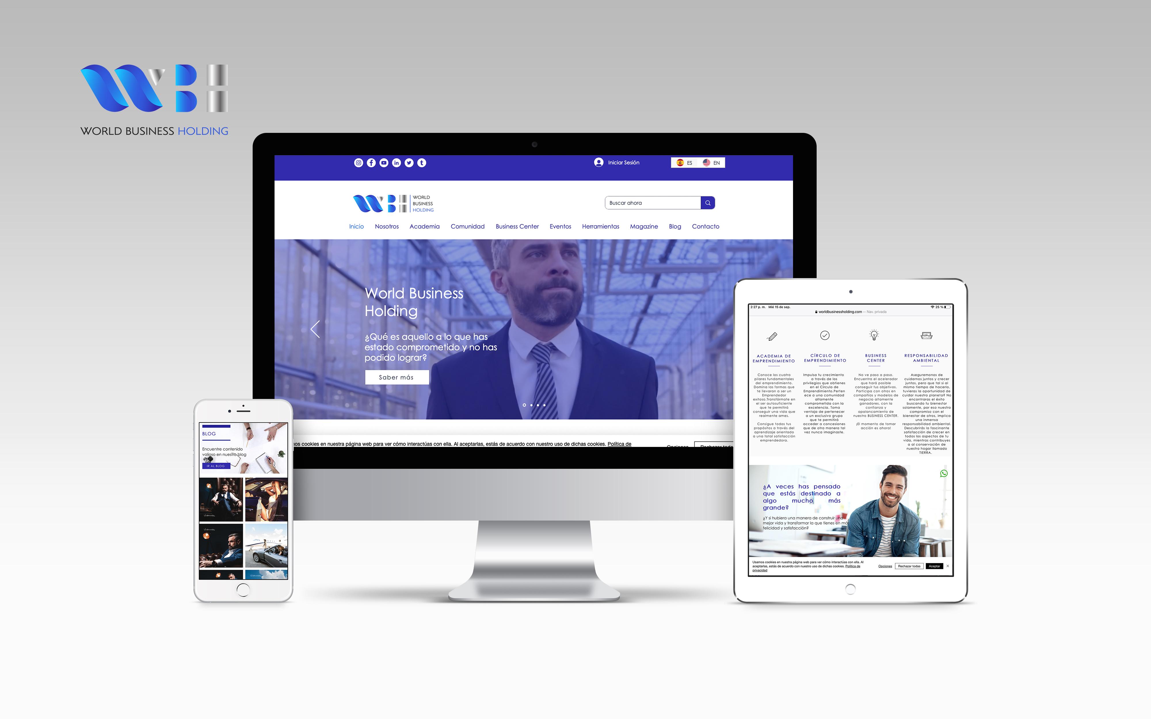 World Business Holding Sitio web avanzado comprometido en apoyar el empre...