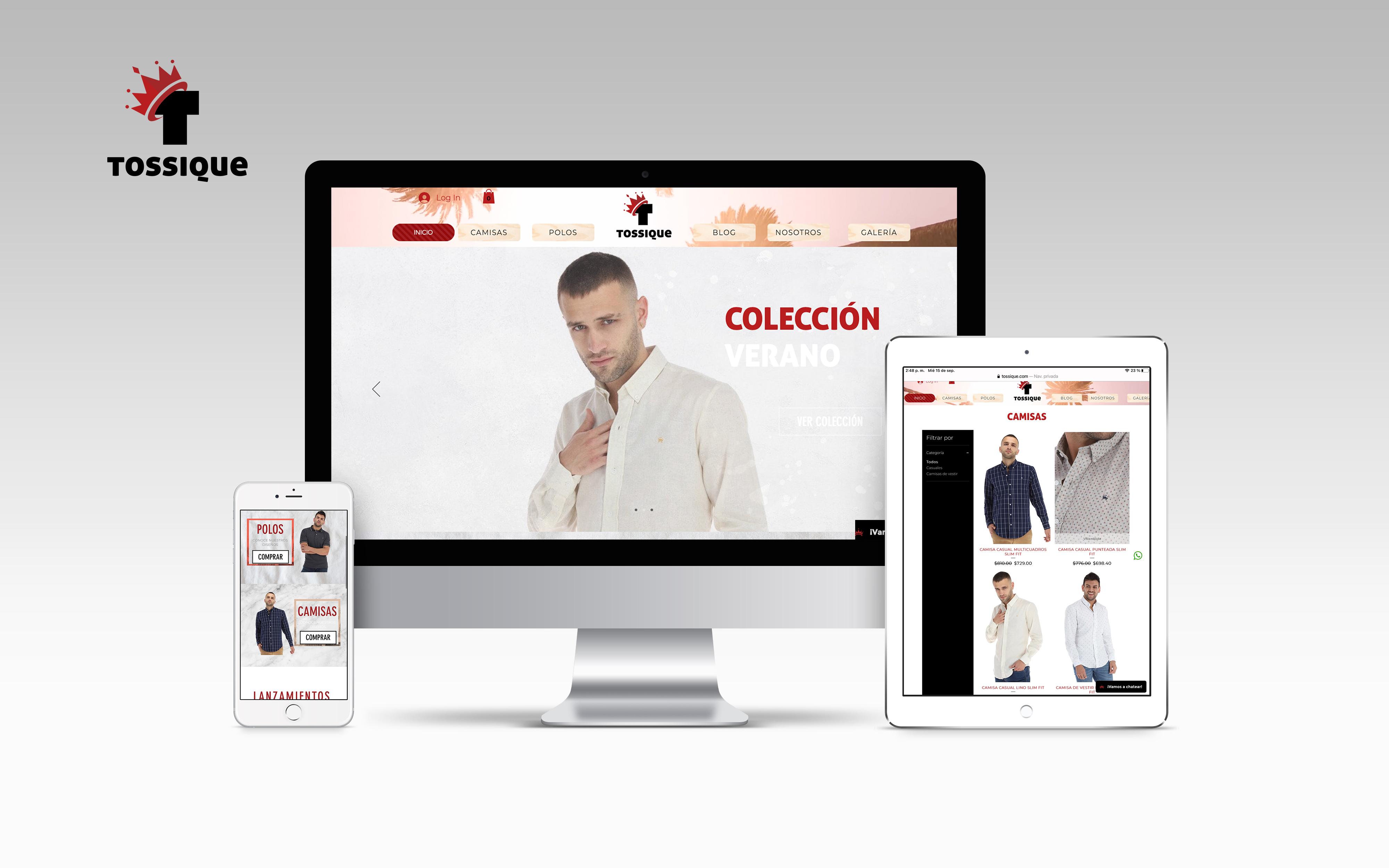 Tossique Desarrollo de marca y diseño Ecommerce para marca ...