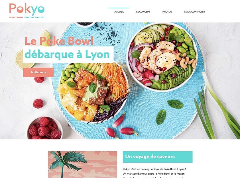 Pokyo Création de site Wix pour un restaurant de Poke Bo...