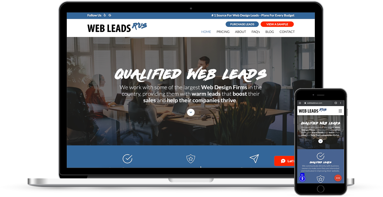 Web Leads R'US We work with some of the largest Web Design Firms ...