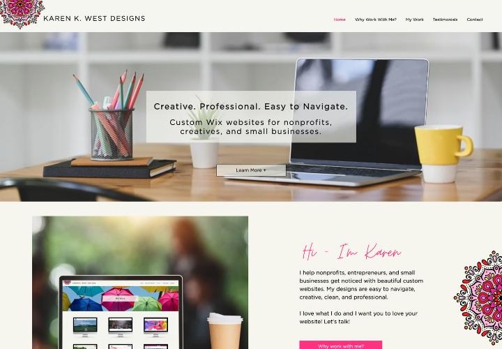 Karen K. West Designs This is my portfolio website. I love working with ...