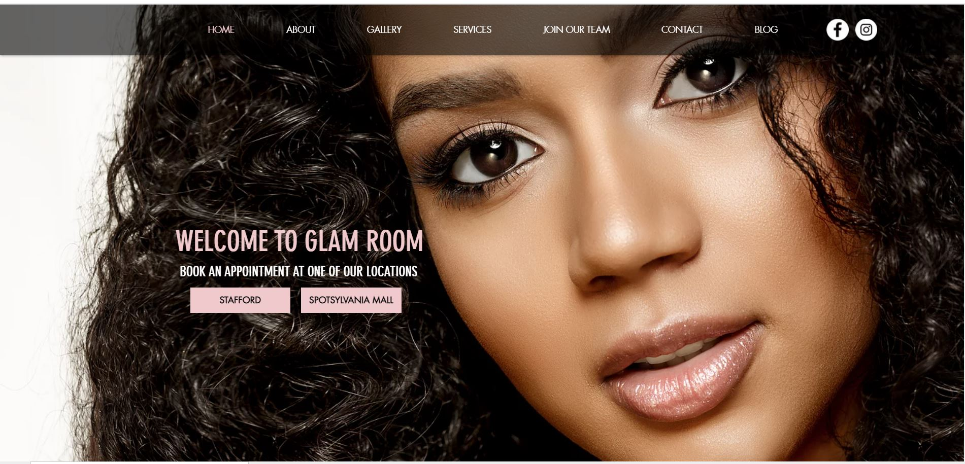 glamroom A luxury salon providing high end beauty services.