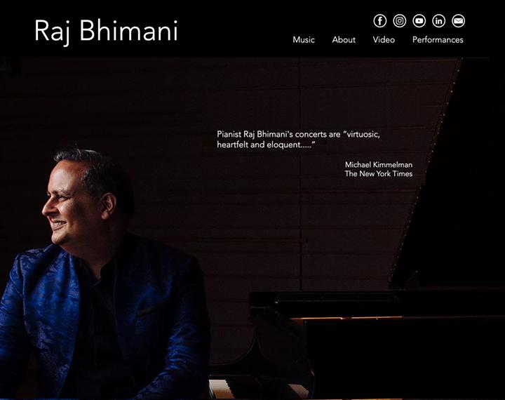 "Raj Bhimani - Pianist Pianist Raj Bhimani's concerts are ""virtuosic, hea..."