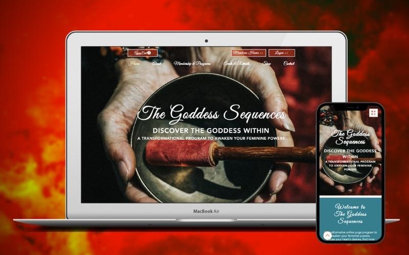 The Goddess Sequences A Yoga & Meditation Membership Website Design & Bu...
