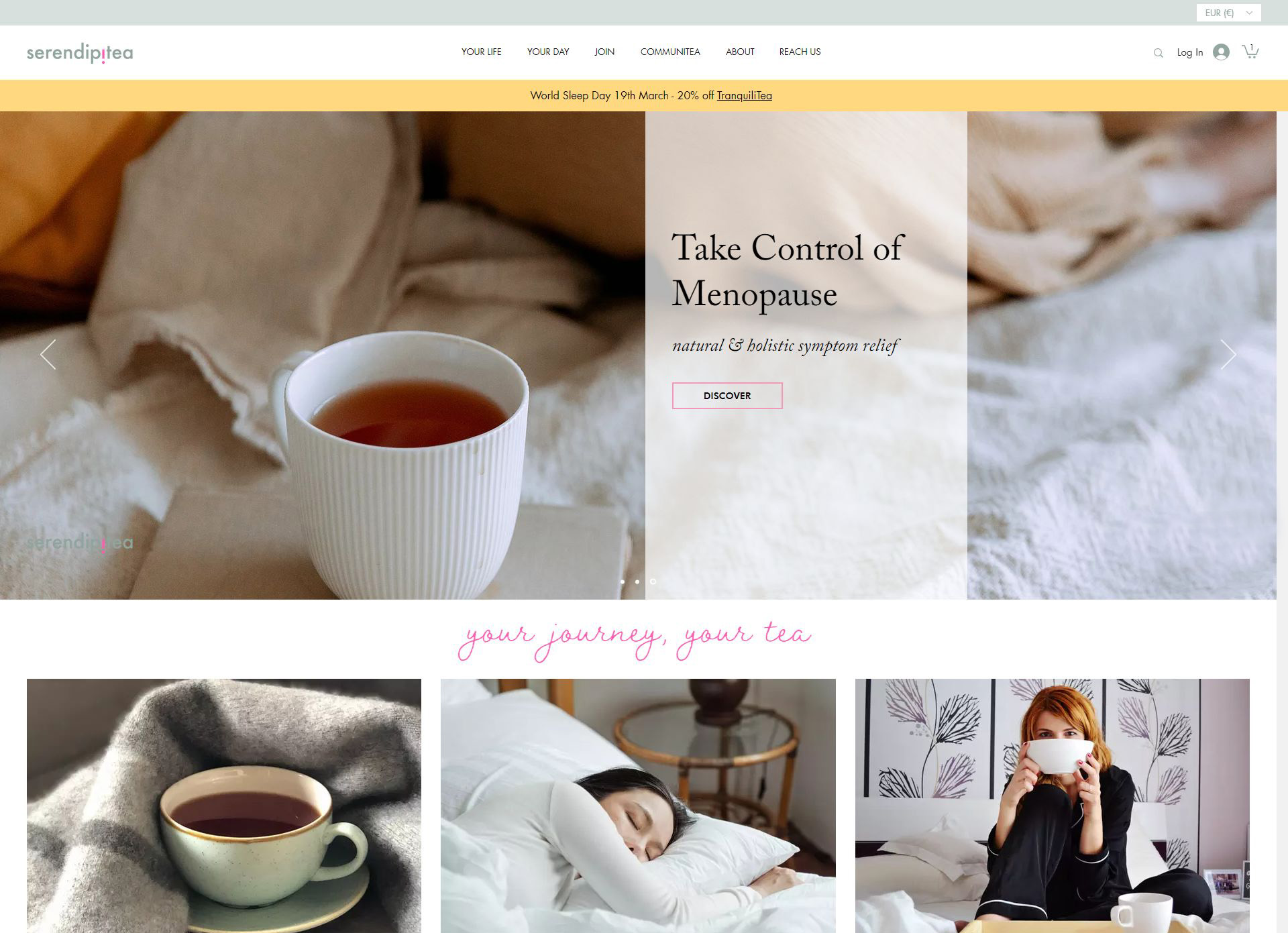 Serendipitea E-commerce website built using Wix Stores. Selling...