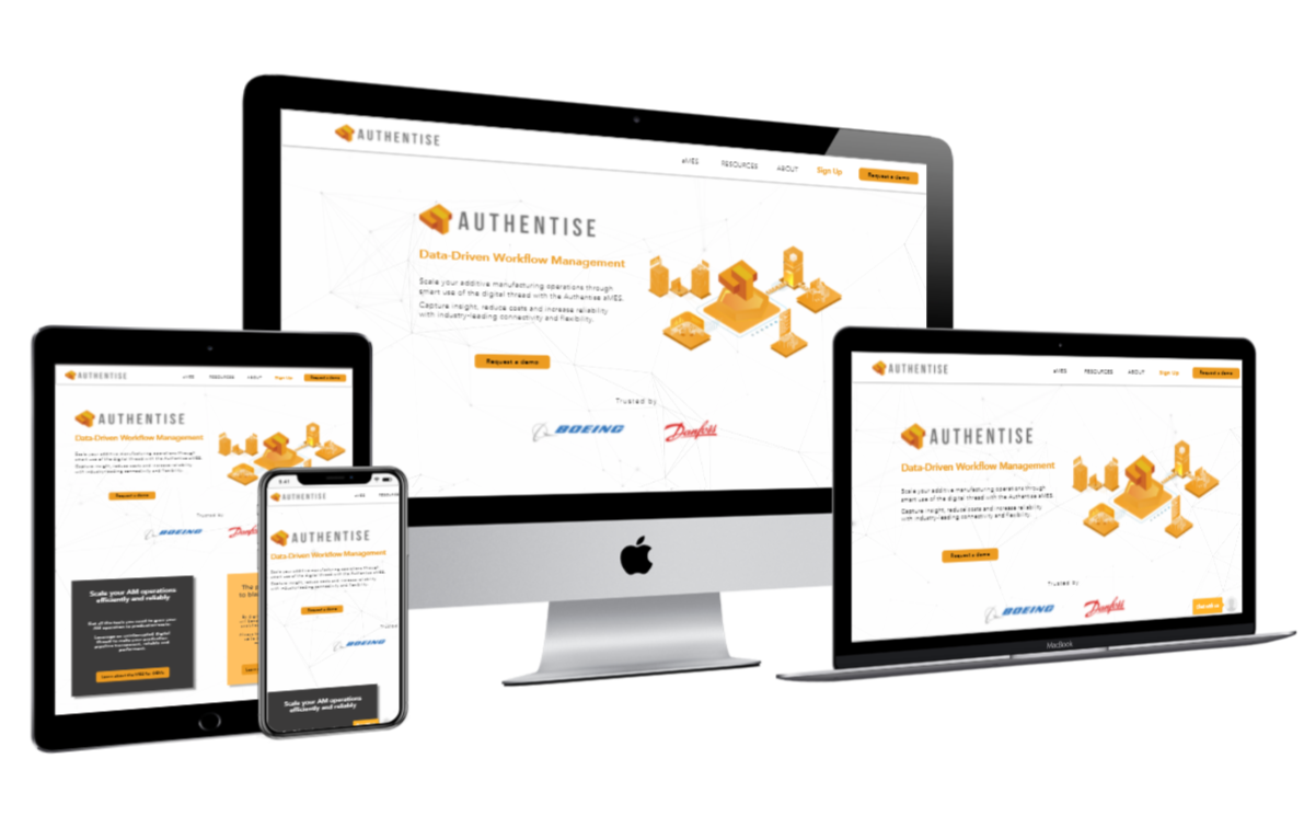 authentise-mockup Website needed custom functionality. Like search f...