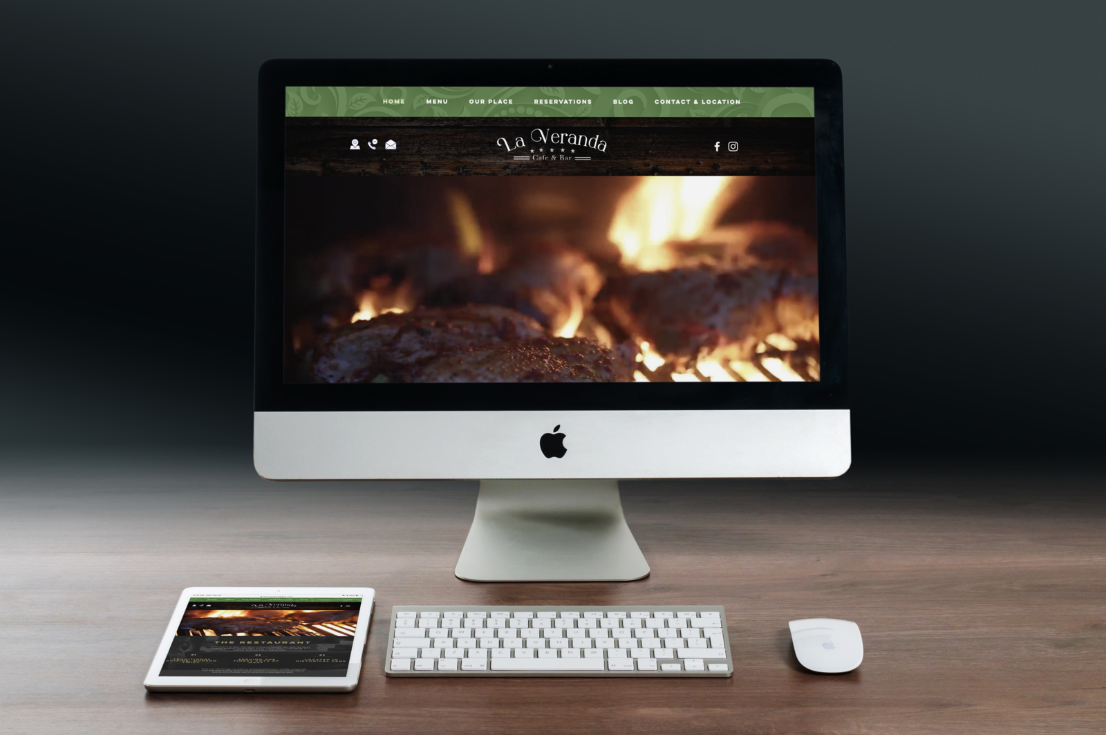 La Veranda Restaurant Logo & website Design