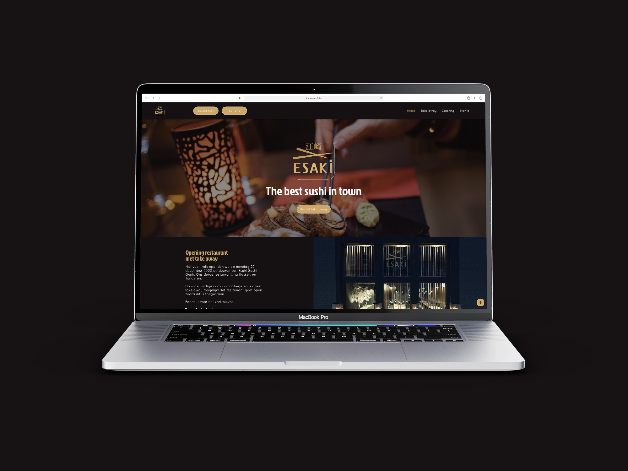 Esaki Genk ➡️ Webdesign ➡️ Take away ➡️ SEO