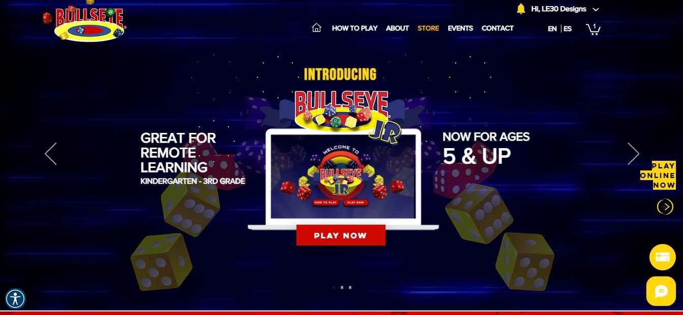 My Jem Games  |  BULLSEYE An e-commerce website for an interactive math game...