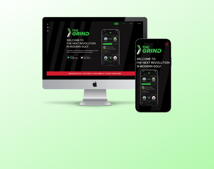TheGrind Golf App THE GRIND IS THE ONLY MOBILE APP WHERE MODERN GOLF...