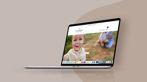 Philip Andrews Photography Philip wanted a sleek website design that would re...