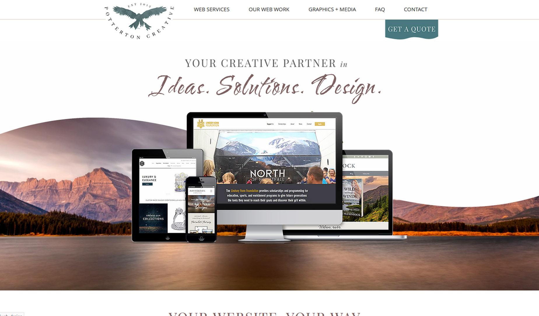 Potterton Creative Our own website and an ongoing project. We like to...