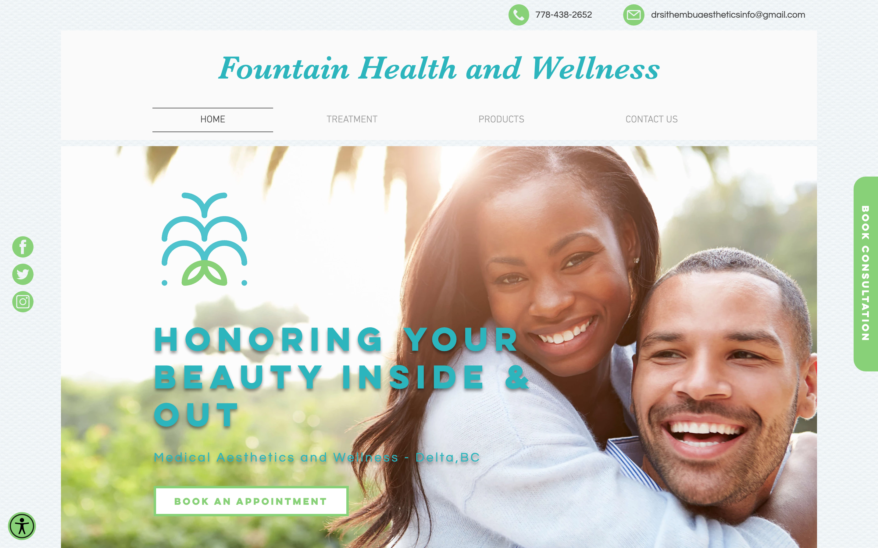 Fountain Health and Wellness New designed website for Fountain Health and Welln...
