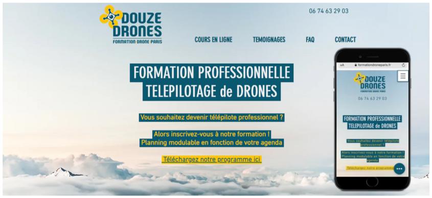 Formation Drone Paris avec Sabri EL FANI  NOTRE FORMATEUR PROFESSIONNEL en TELEPILOTAGE de DRONES à PARIS SEO complet avec insertion code SEO