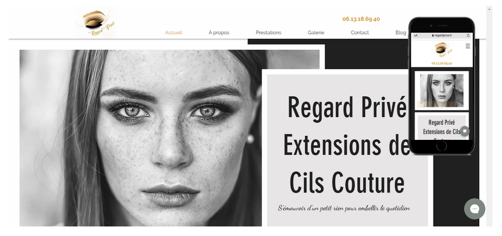 Regard Privé extension de cils à Cannes Référencement optimisé avec ligne de code sur mesu...