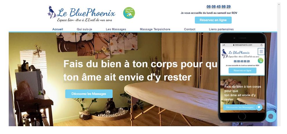 Le bluePhoenix Massage Terpsichore Grenoble by Fabienne Refonte complète + ligne de code SEO