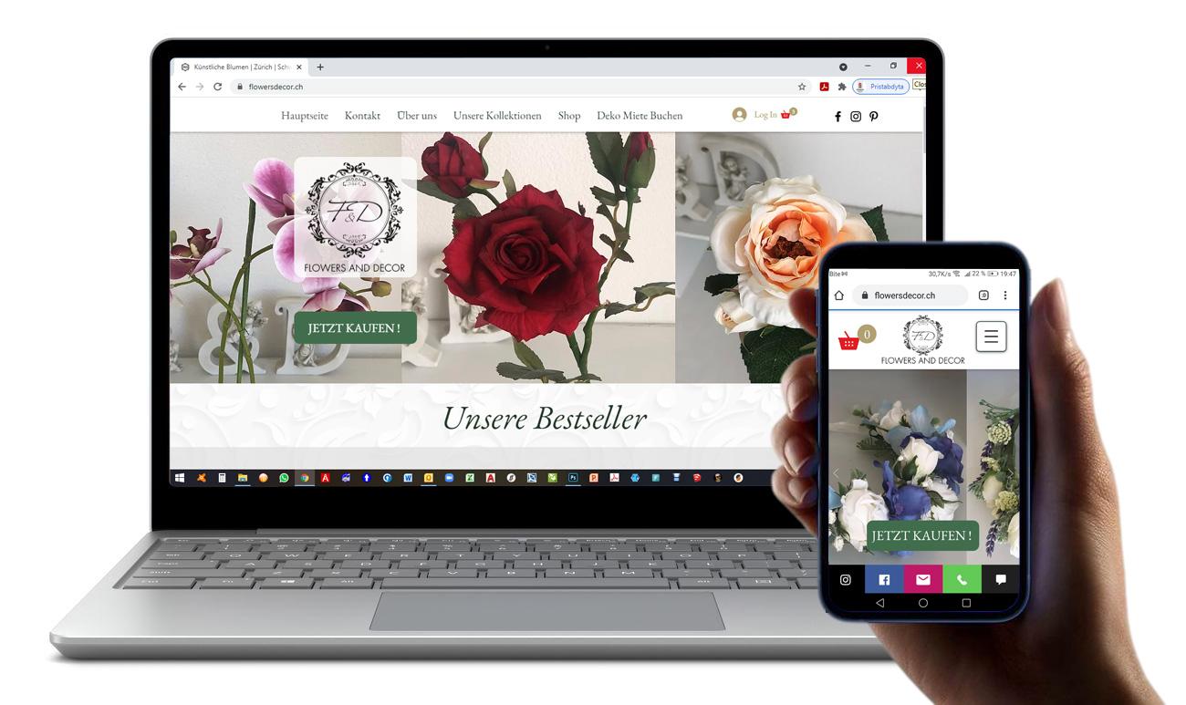 Flowers & Decor, Switzerland E-shop for artificial flowers in Switzerland