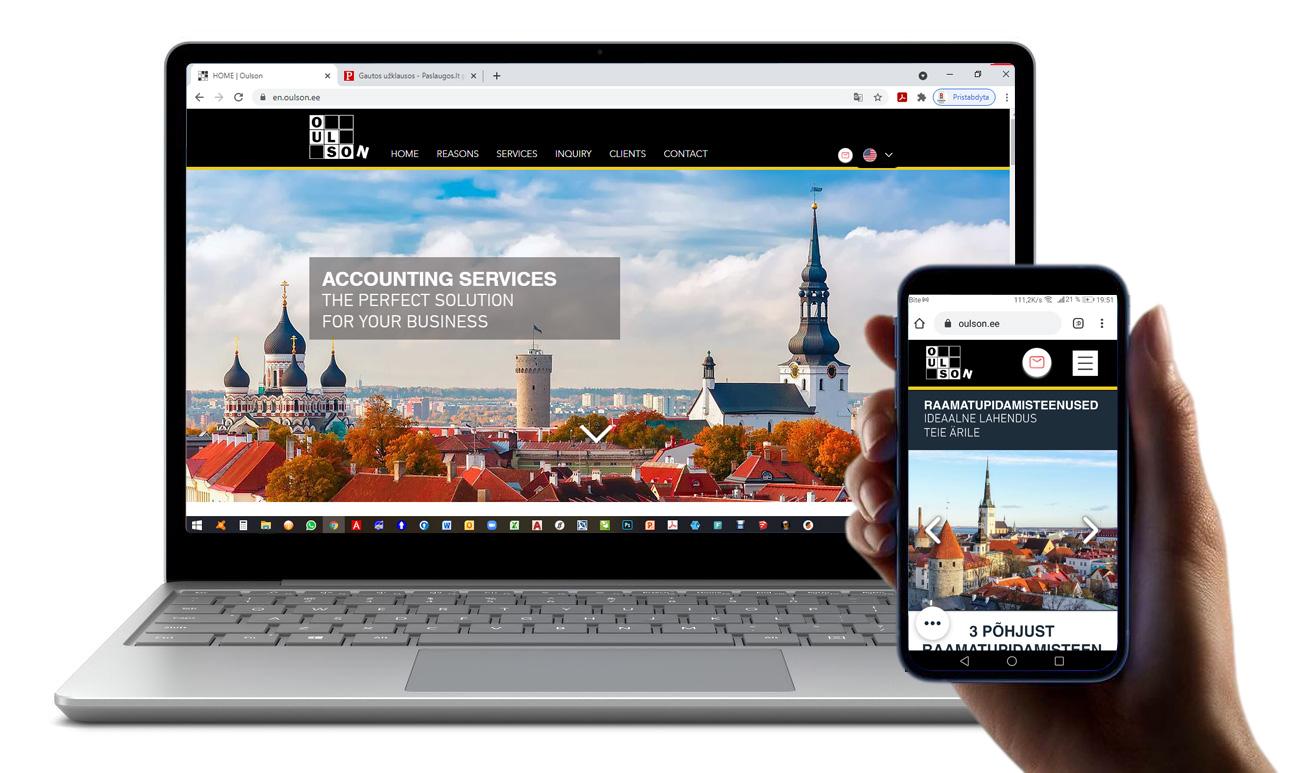 Oulson Outsourcing OU, Estonia Accounting company website, Tallinn, Estonia