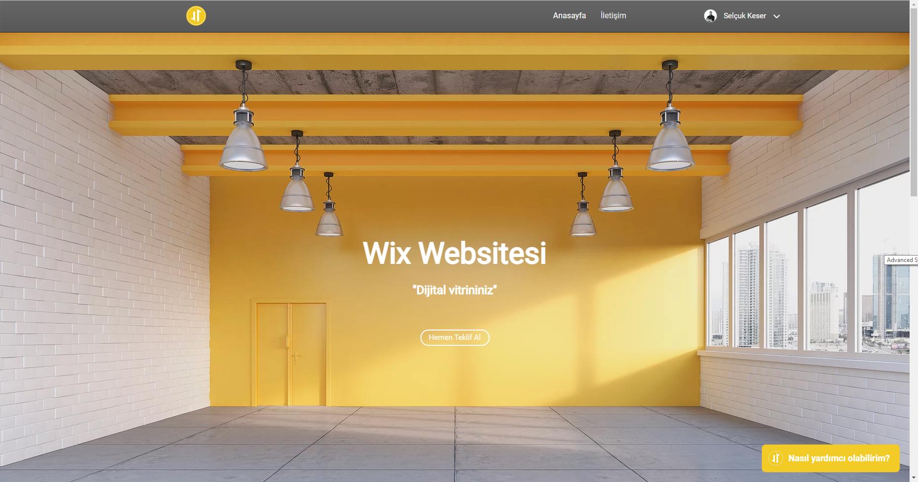 Wix Websitesi Wix ile ilgili neredeyse her özelliğin kullanıldığ...
