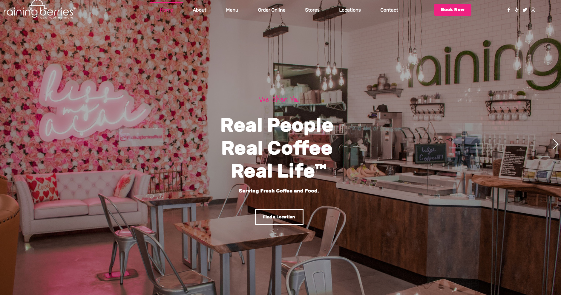 Raining Berries A coffeeshop with a twist. Check it out to find ou...