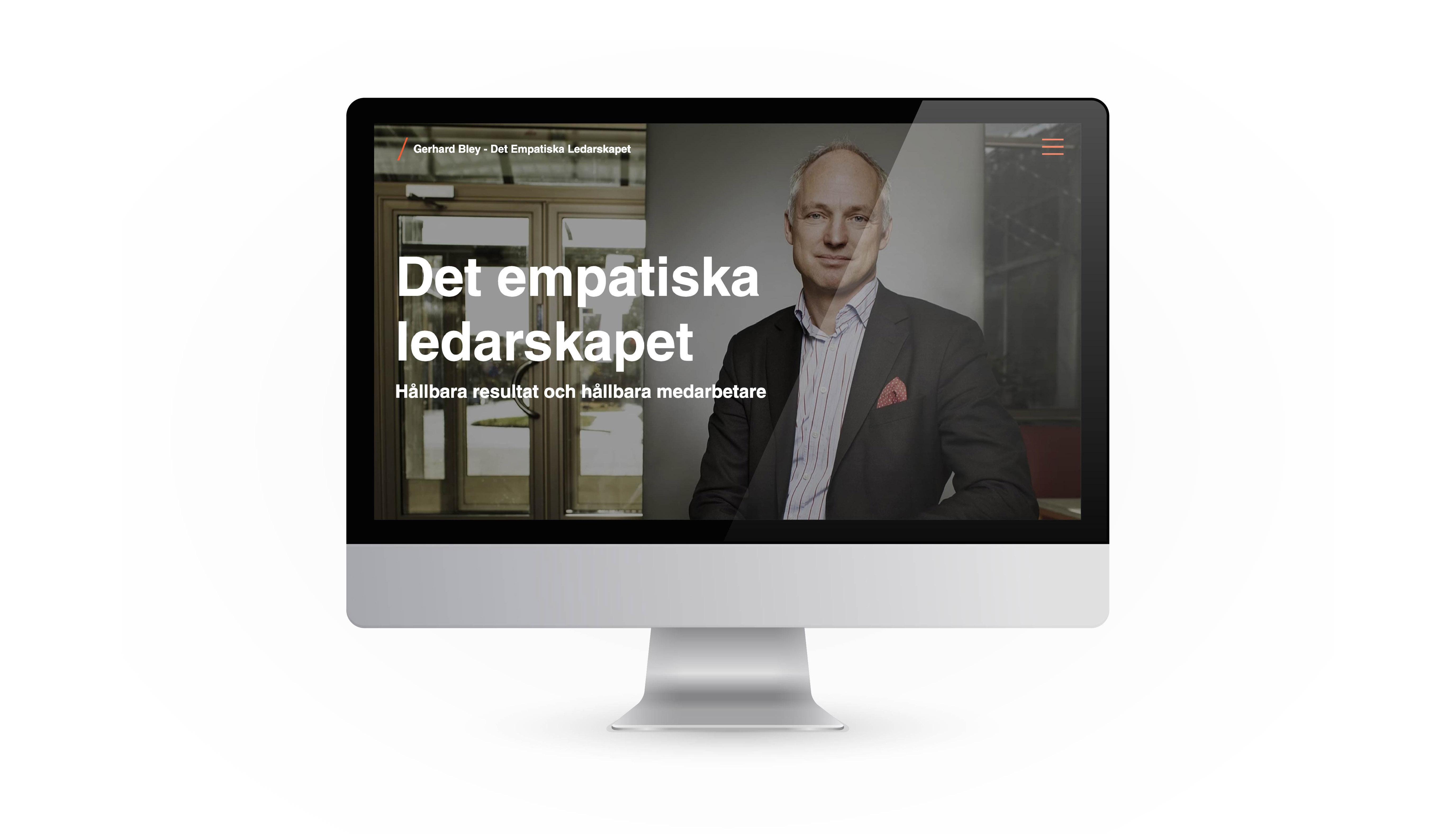 Det Empatiska Ledarskapet - Gerhard Bley Website design