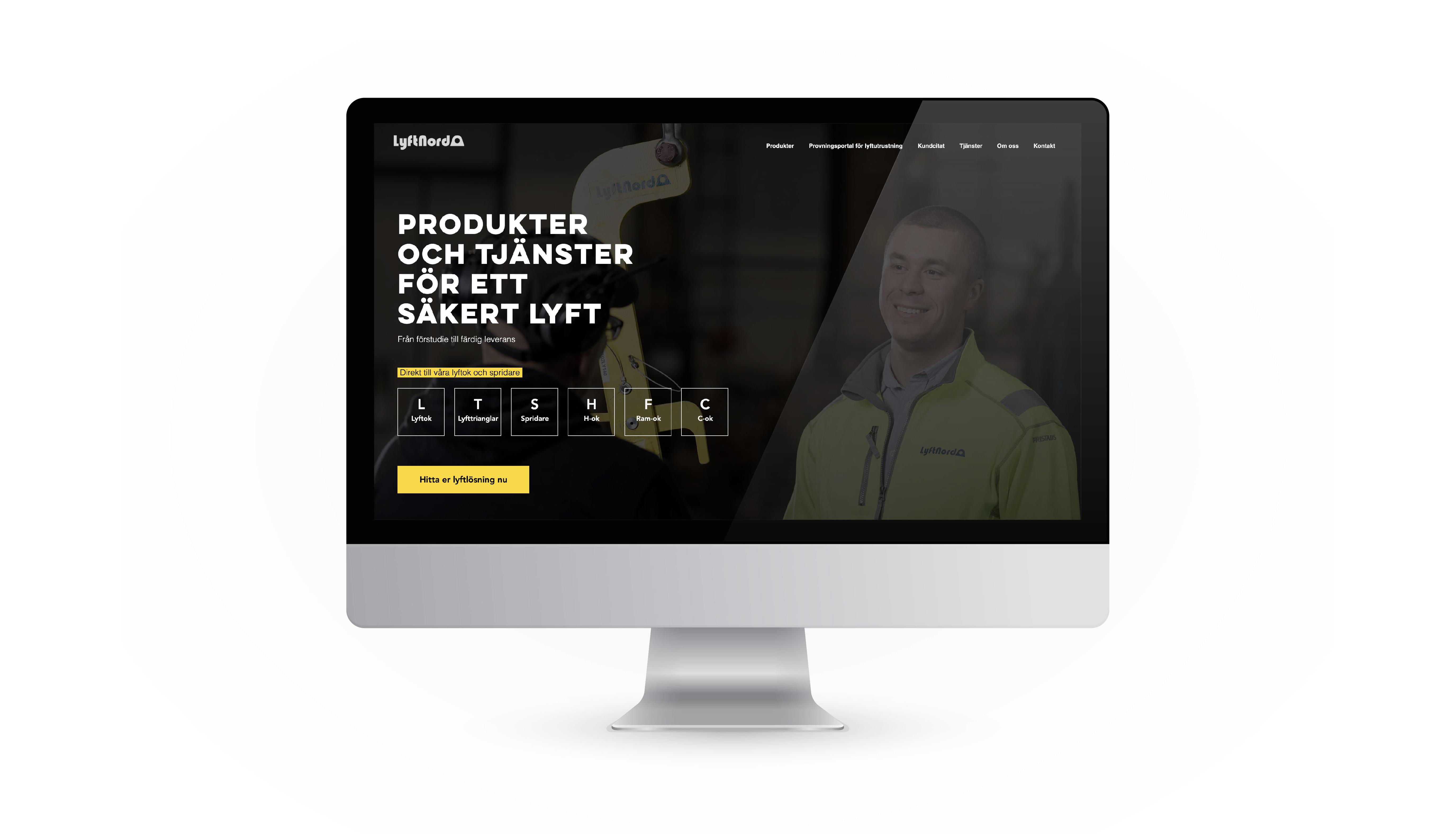 Lyftnord Website design
