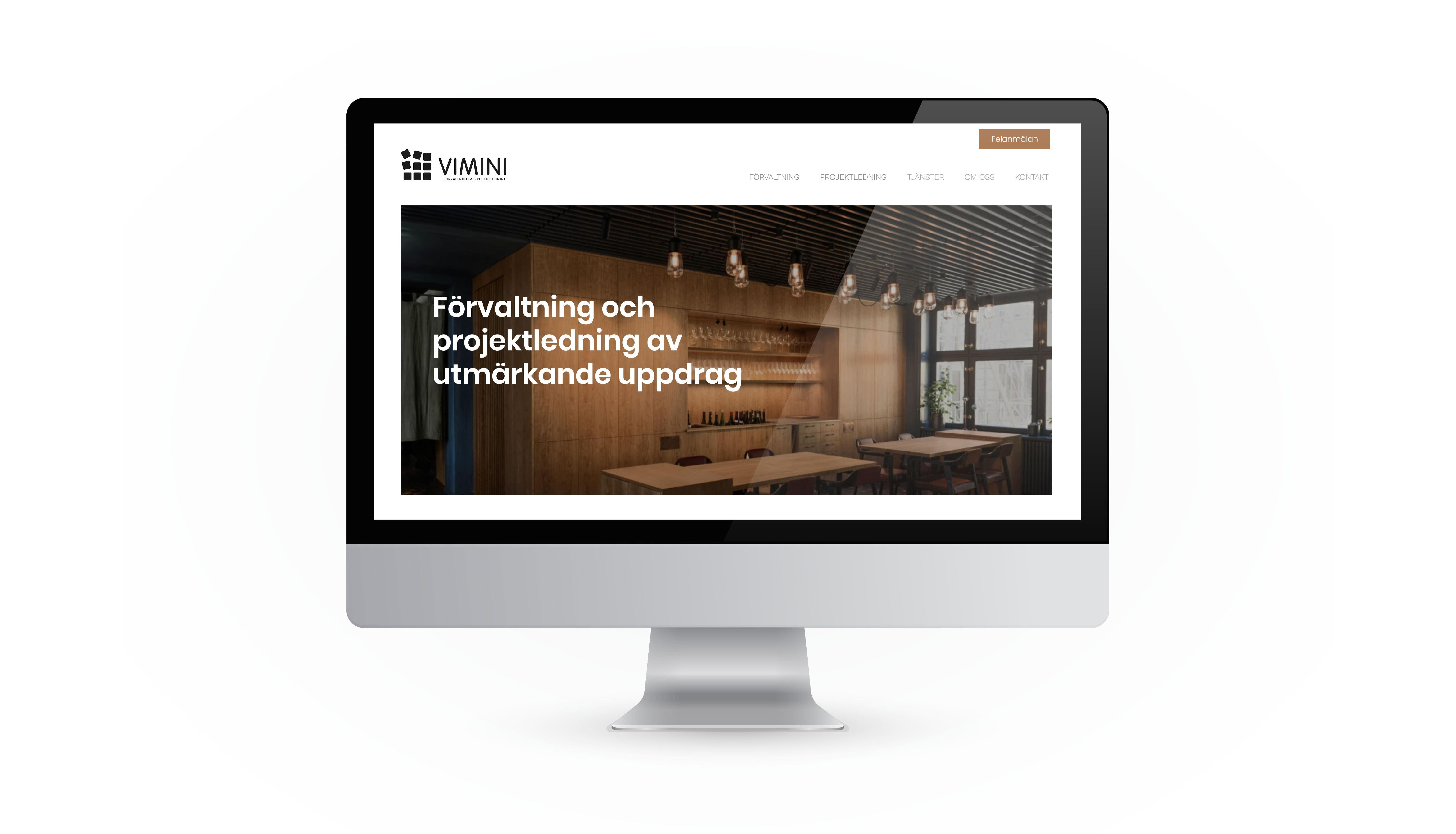 Vimini Website design