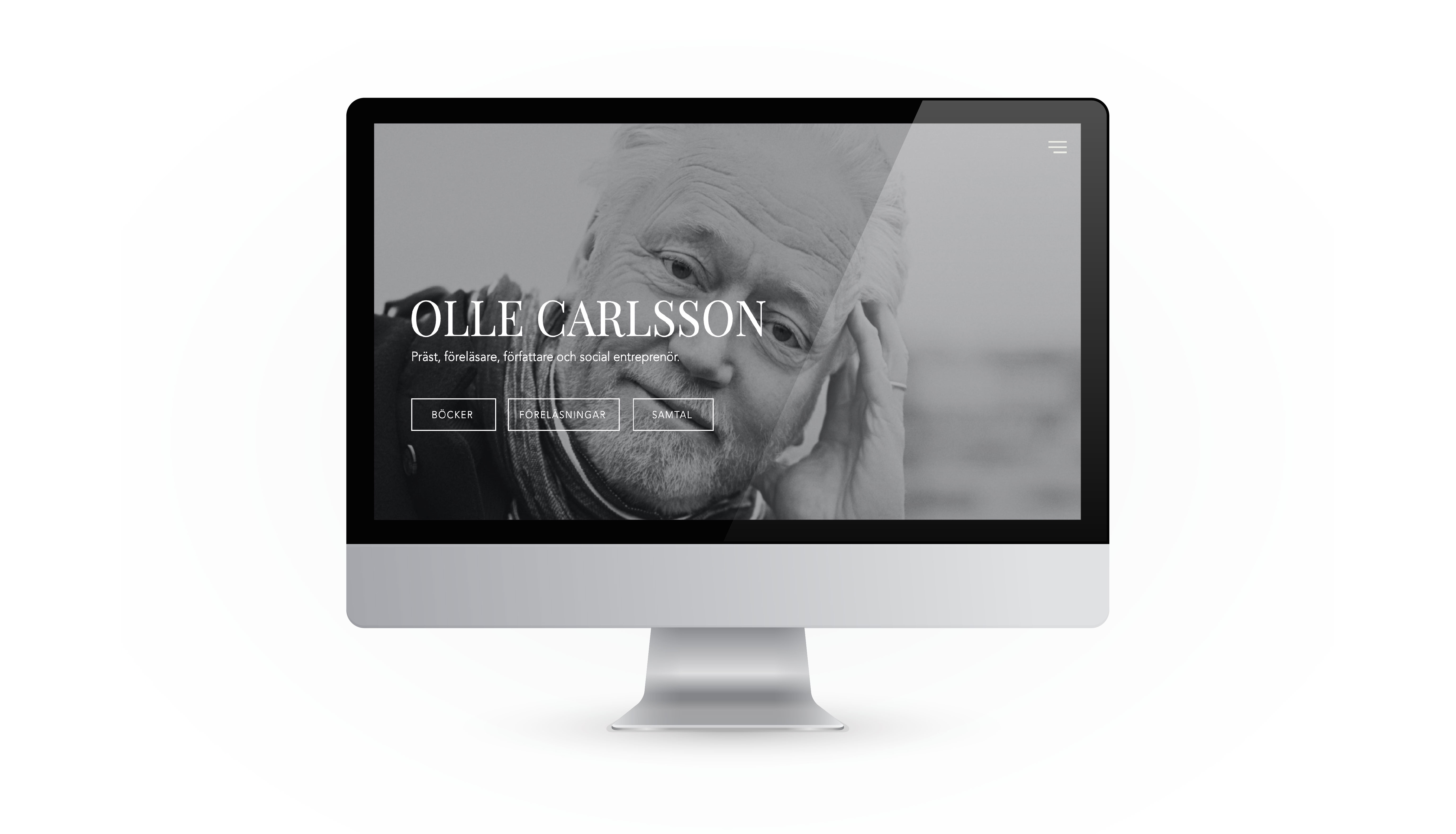Olle Carlsson Website design