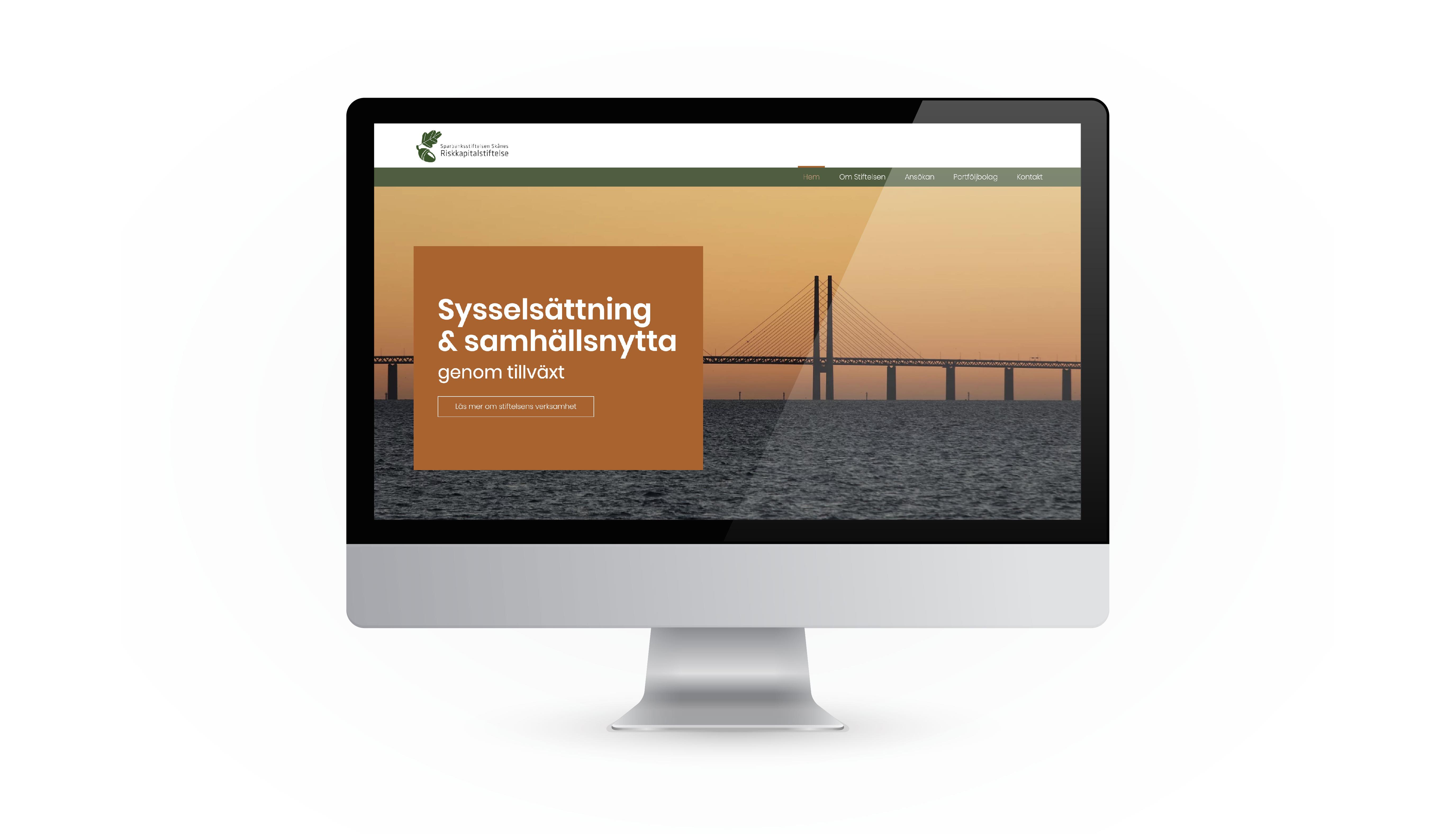Sparbanksstiftelsen Skånes Riskkapitalstiftelse Website design