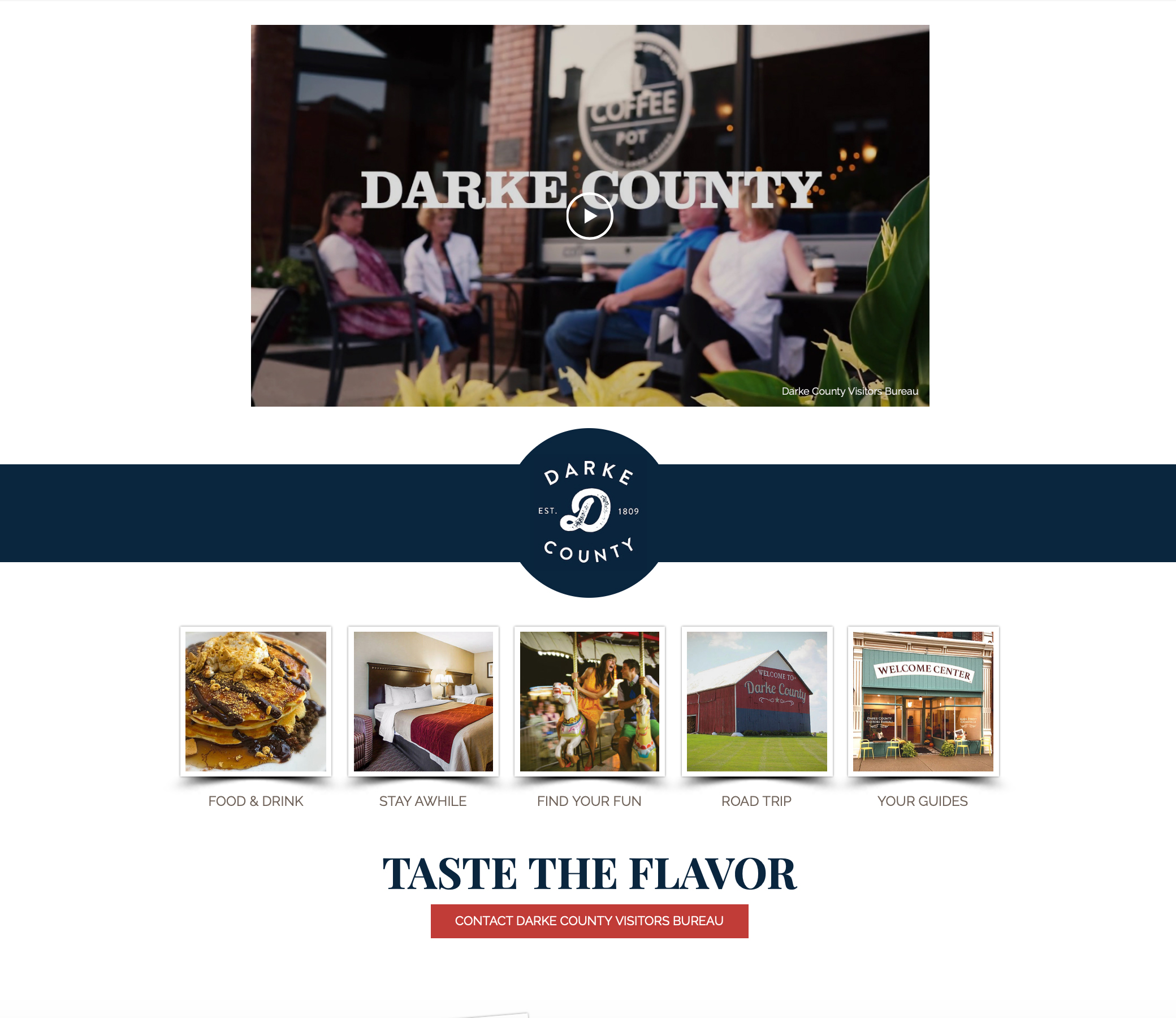 Darke County Visitors Bureau Built from scratch, this site is an effort to scal...