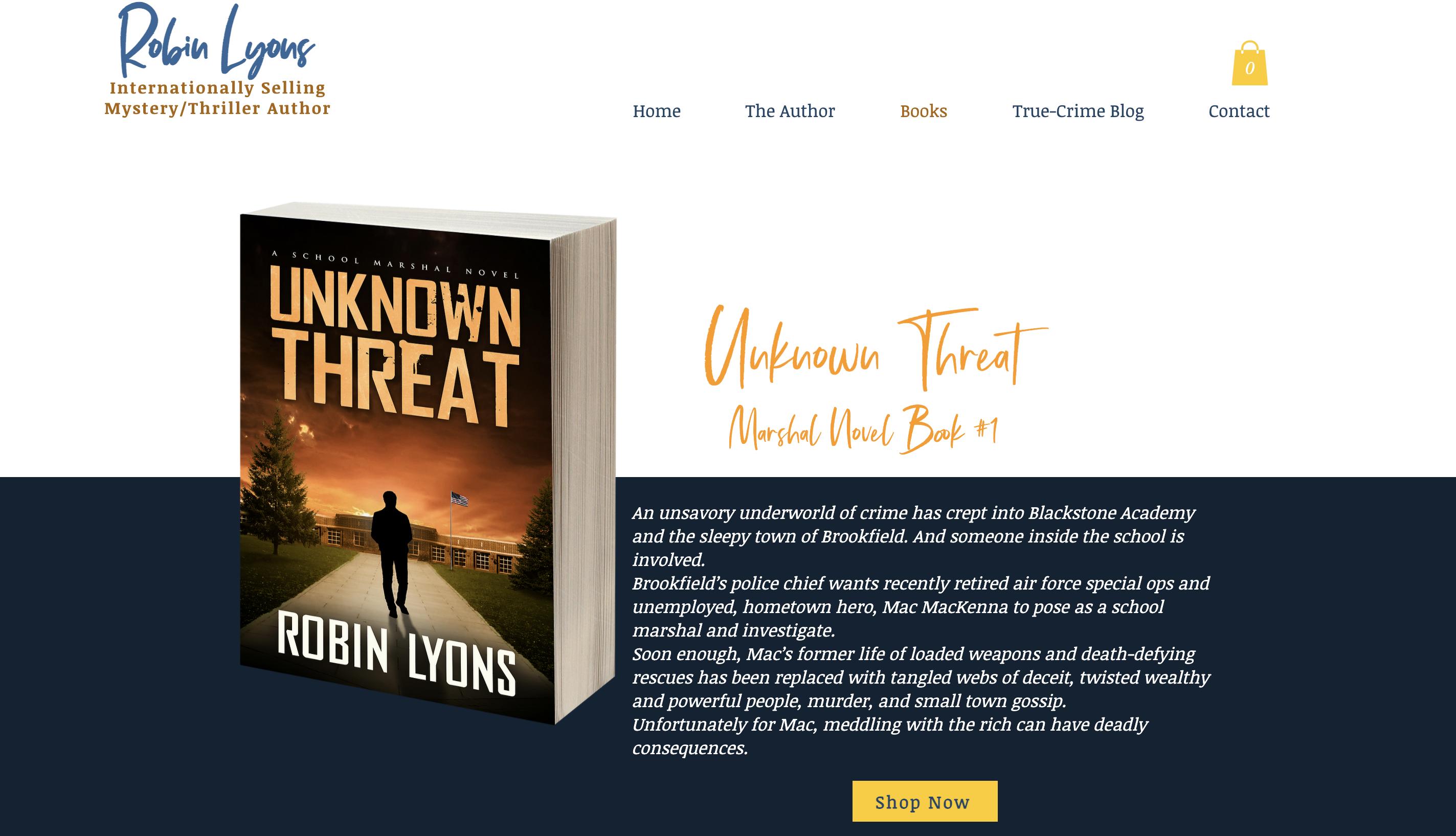 Literary Work Robin Lyons, the author.