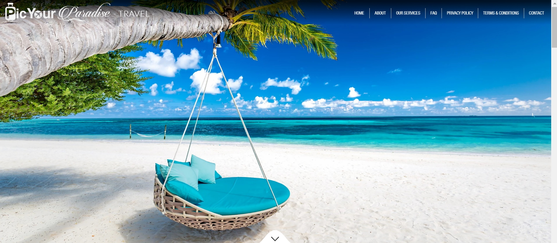 PIC YOUR PARADISE TRAVEL Classic Travel Database Website Design.