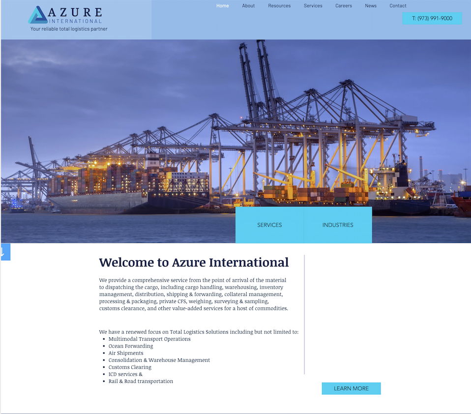 Azure International Transportation and Logistics