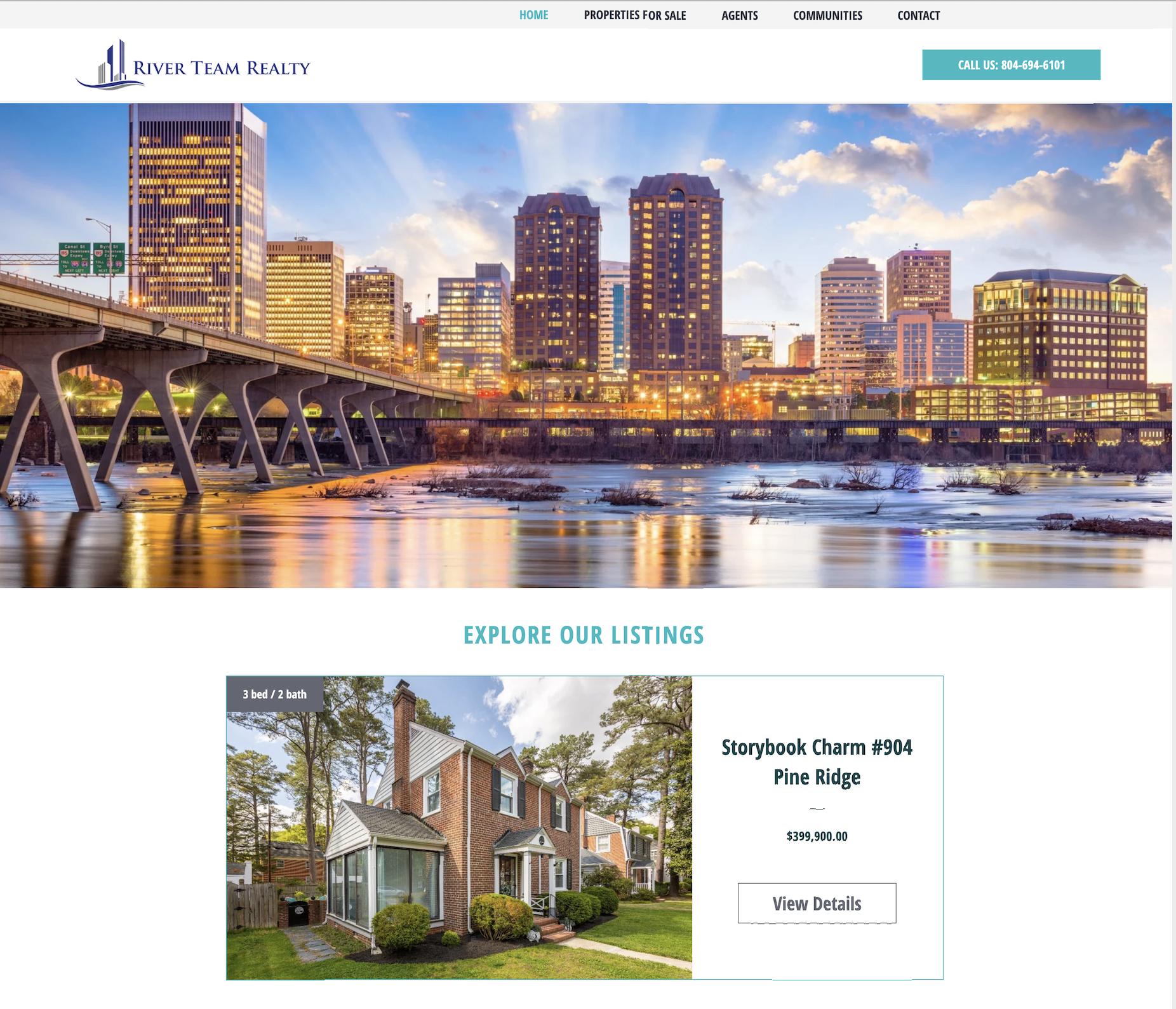 Real Estate Company Website Website for a Real Estate Broker in Virginia
