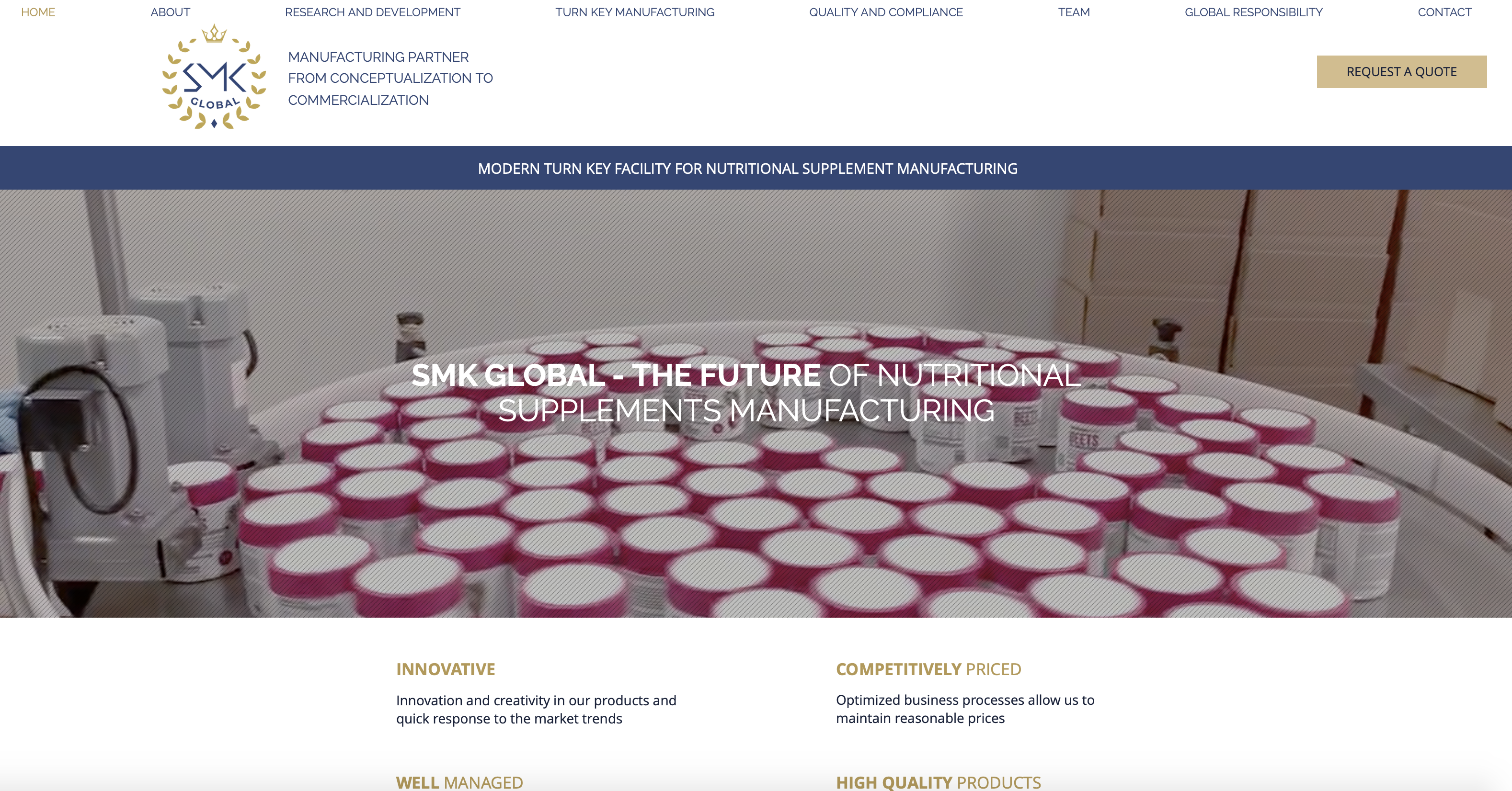 SMK Global Website for Nutritional Supplements Manufacturing ...