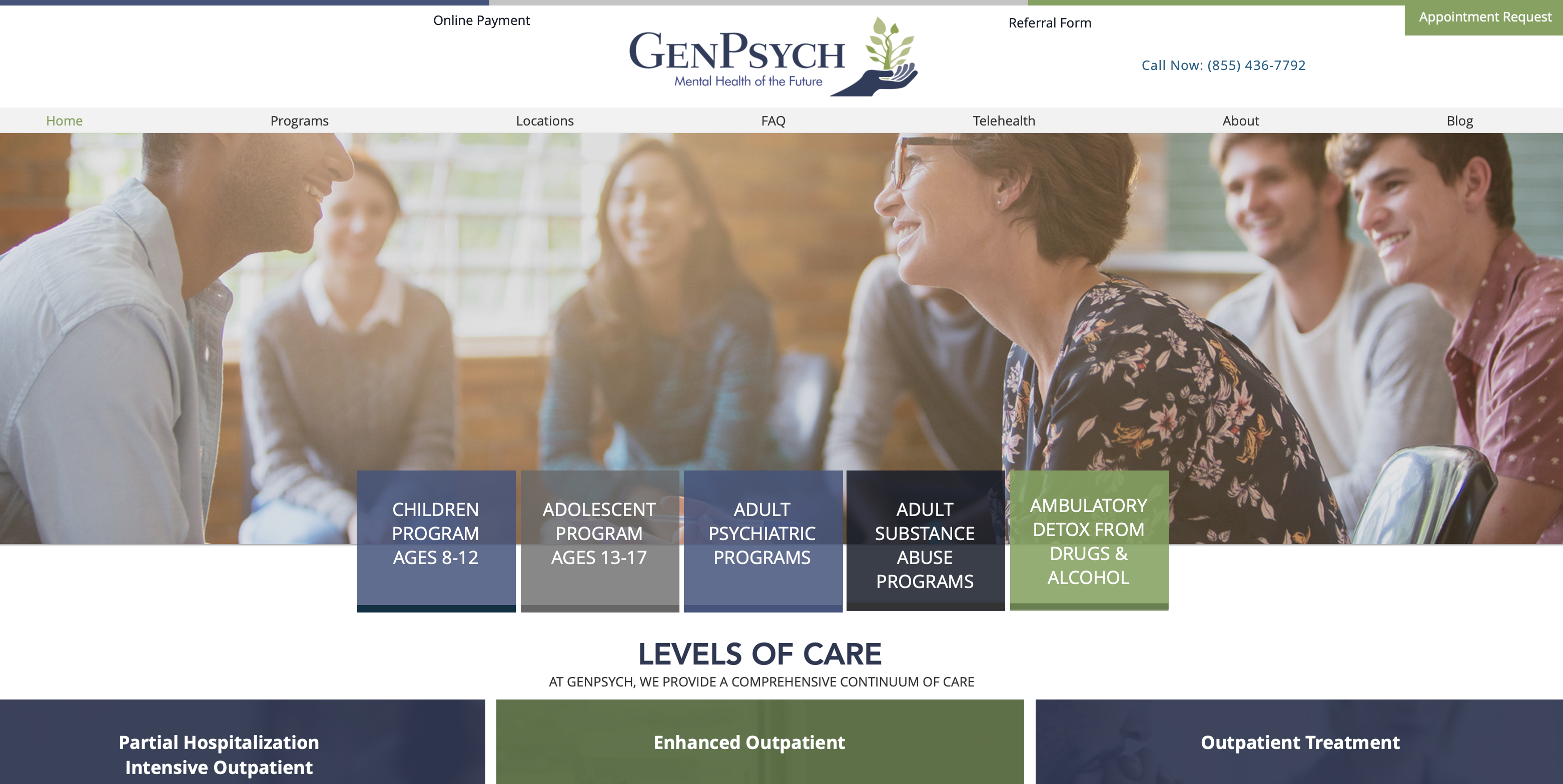 Psychiatric Help Clinics in NJ Website design for psychiatric clinics in New Jers...