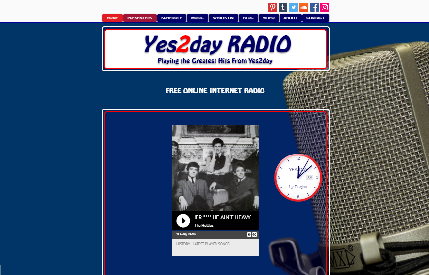 Yes2day Radio Yes2day radio is a 60's dedicated radio channel