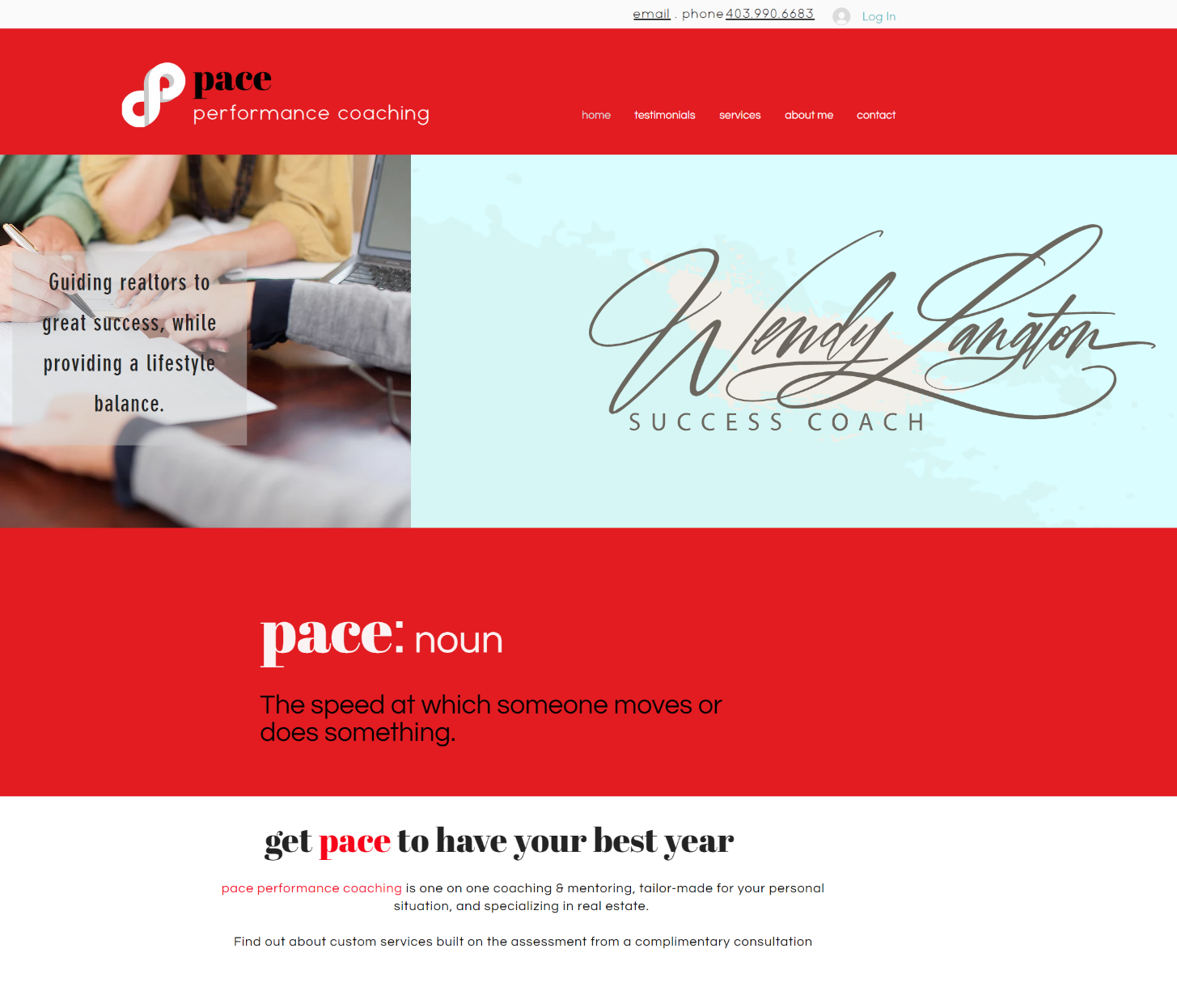 Pace Real Estate Coaching Pace Real Estate Coaching Website Development  Bra...