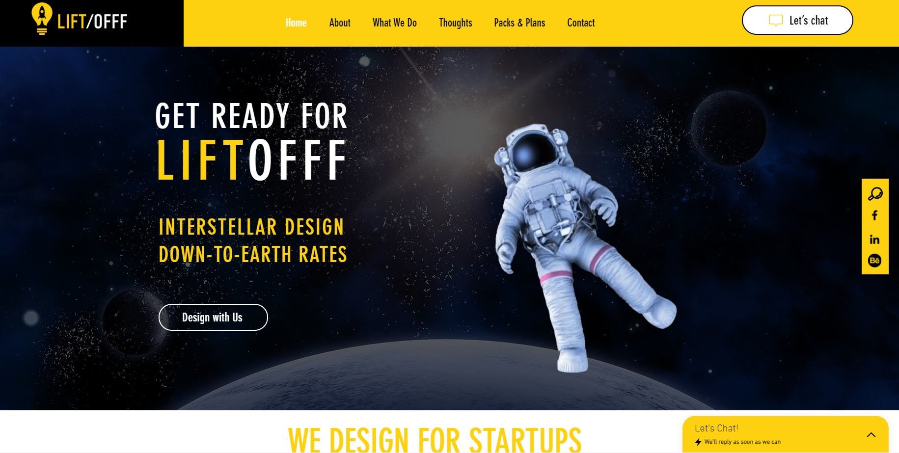 Liftofff | Online Design Agency An amazing example of using Wix website as a perfe...