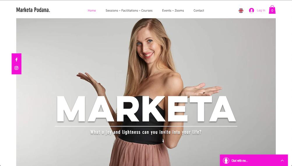 Marketa's Business Website branding / web design / bookings / events / online...