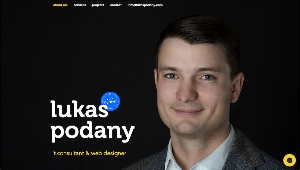 Lukas PODANY Business Website web design / branding / contact form / SEO  My per...