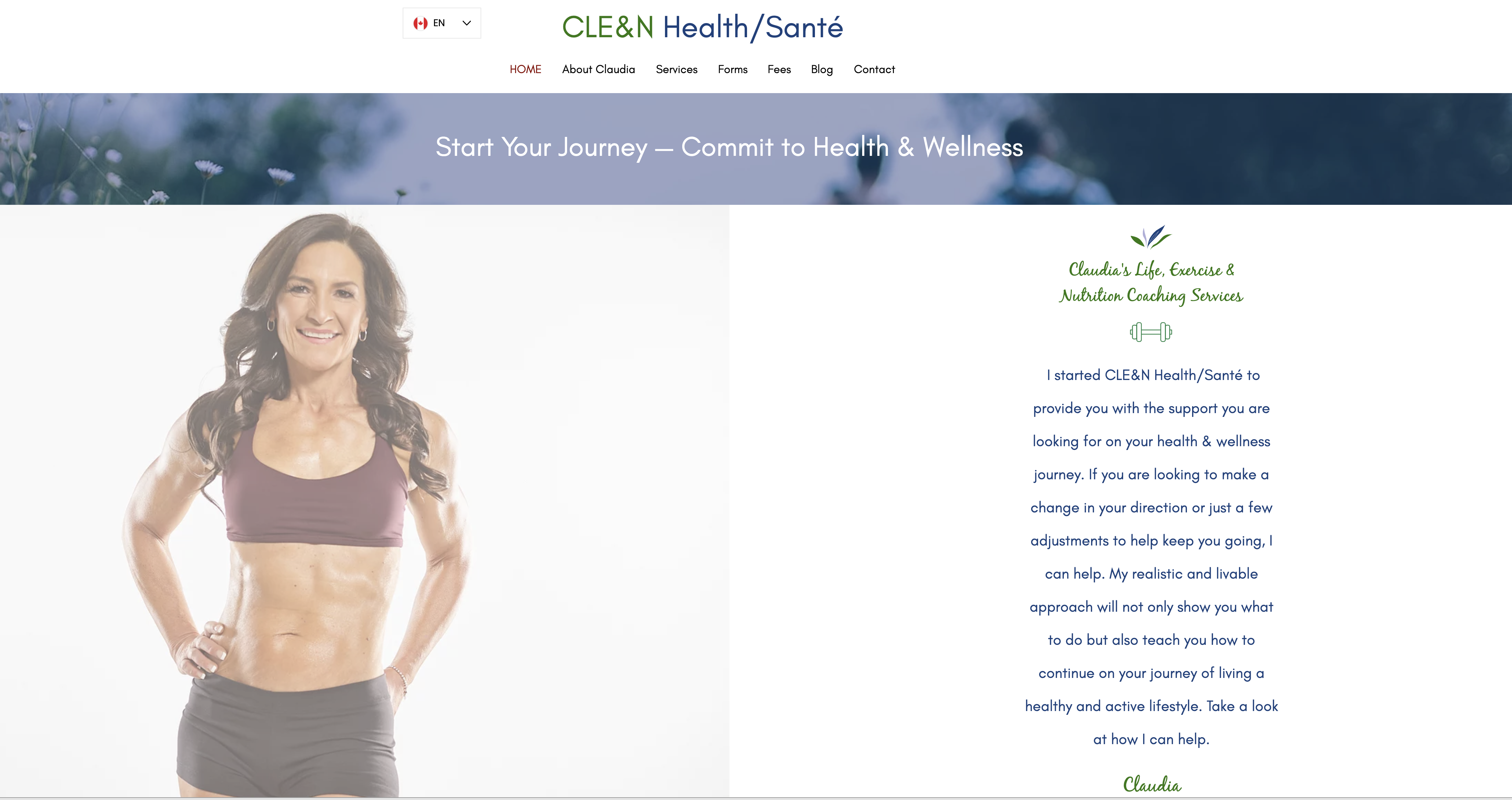 CLE&N Health Santé Multilingual website (French and English) for nutr...