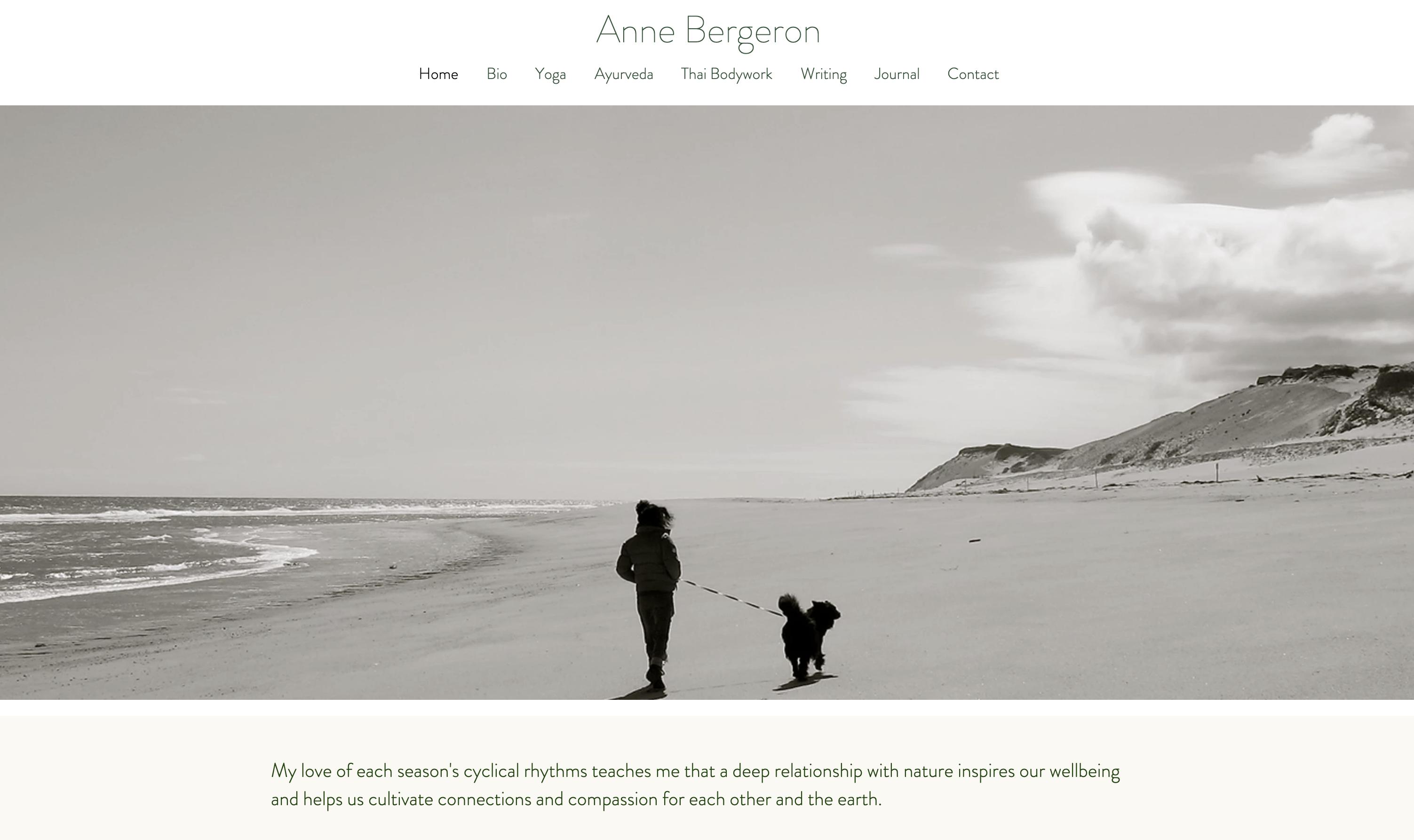 Anne Bergeron Yoga, Thai Massage, Ayurvedic Practitioner, and Wr...
