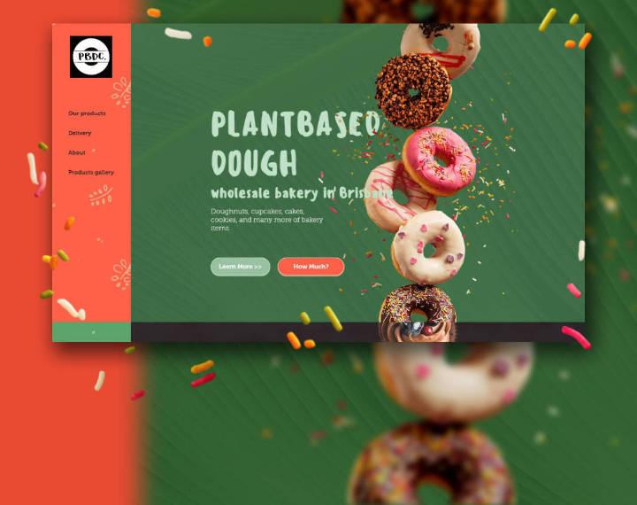 Plantbased donuts | Brisbane, Australia Landing page made for vegan commercial kitchen in ...