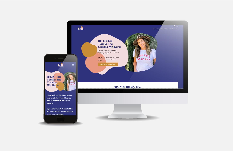 The Creative Wix Guru | Mini E-Course Wix Website Design Complete Wix Website and Branding Package