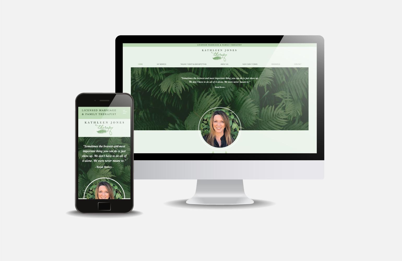 Kathleen Jones Therapy Complete website and branding package.