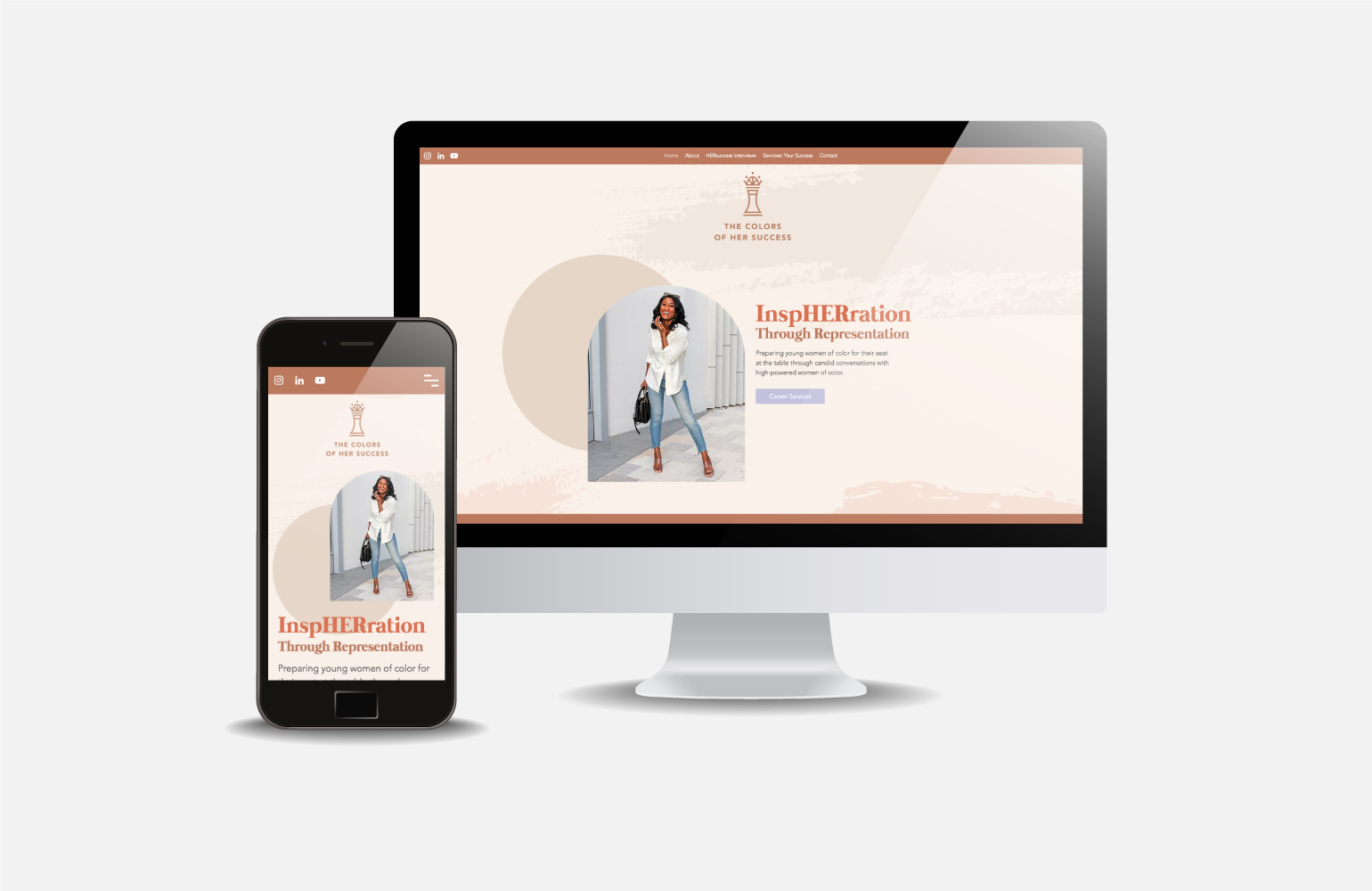 The Colors of Her Success Redesigned website with new branding.